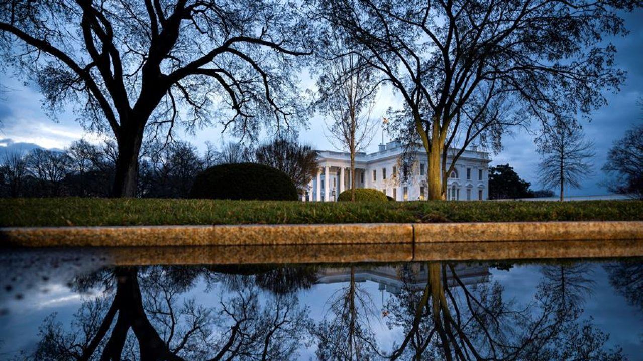 Vista general de la Casa Blanca.