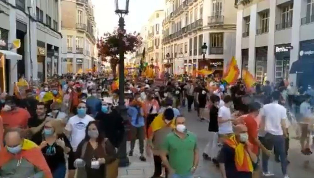 Protesta por el centro de Málaga