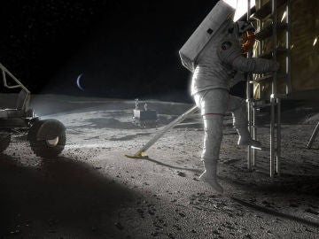 Recreación de la exploración espacial en la Luna en el futuro programa Artemis