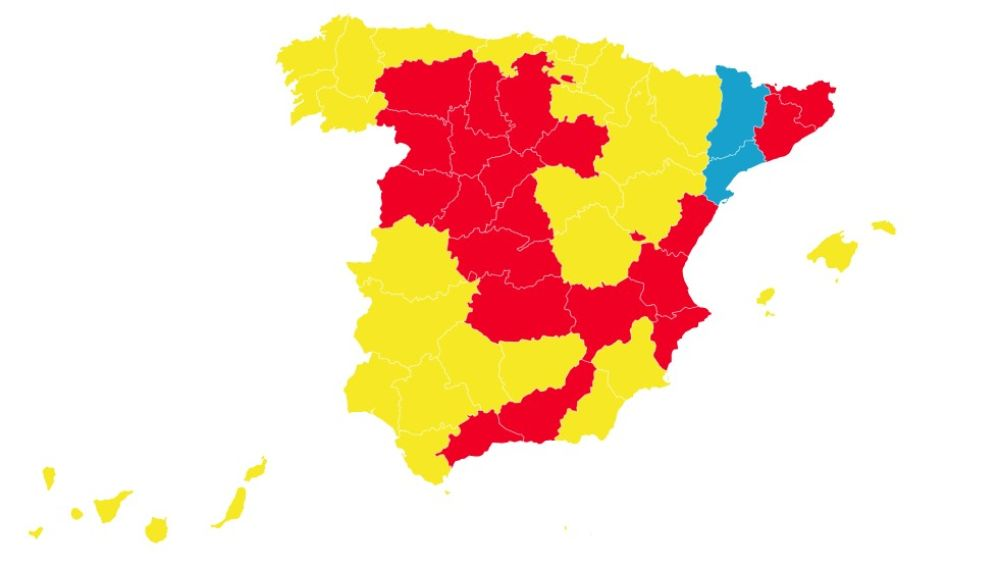 Mapa de la desescalada a partir del 25 de mayo