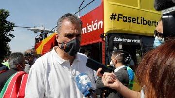 Ortega Smith en la manifestación de Vox en Madrid