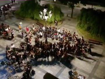 Celebración en Beasain en pleno confinamiento