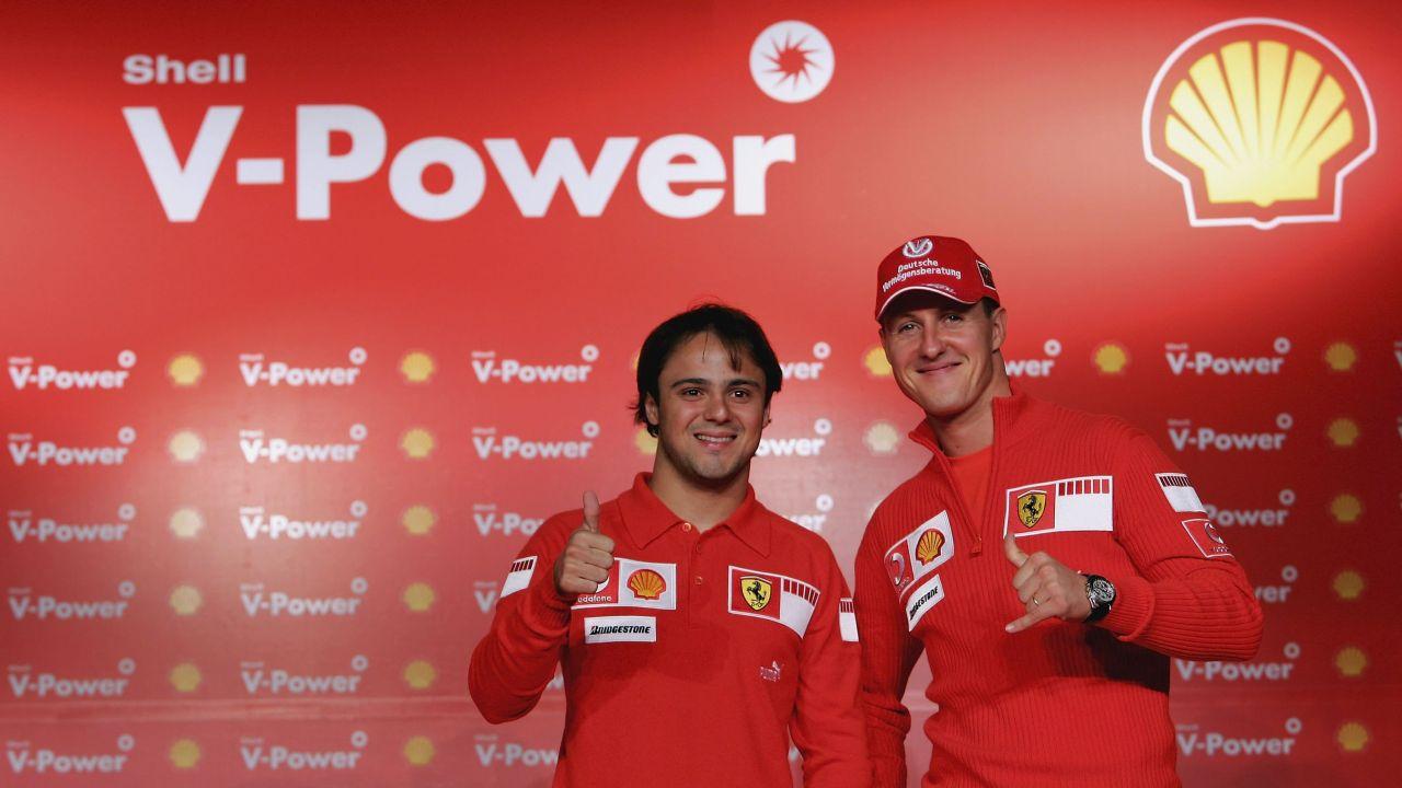 Felipe Massa y Michael Schumacher en Ferrari