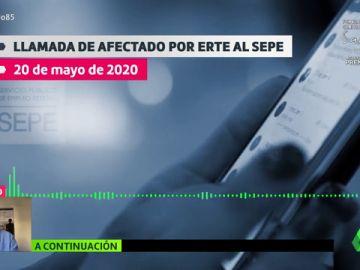 """La tensa llamada de una pareja acogida a un ERTE al SEPE de Valladolid: """"No puedo esperar dos meses para dar de comer a mis hijos"""""""