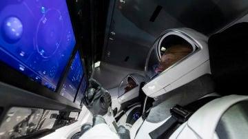 Bob Behnken y Doug Hurley, en un test antes de su viaje espacial