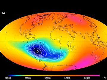 El campo magnético de la Tierra y la Anomalía del Atlántico Sur