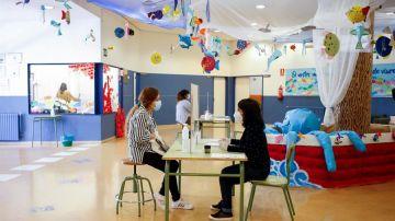 Un colegio abierto durante la fase 2 de la desescalada