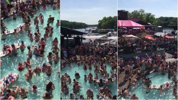 Fiesta masiva en EEUU