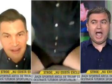 A Ionut Stroe se le cae la cámara en directo y se vuelve viral