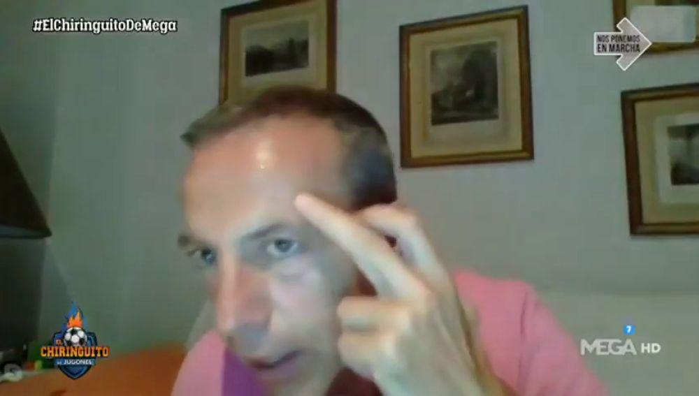 Un mosquito atacó a Cristóbal Soria en directo en 'El Chiringuito'