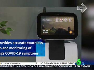 Crean un robot inteligente que detecta el coronavirus en 10 segundos sin ningún tipo de contacto