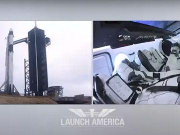 Imágenes del directo del lanzamiento de la NASA y SpaceX cancelado