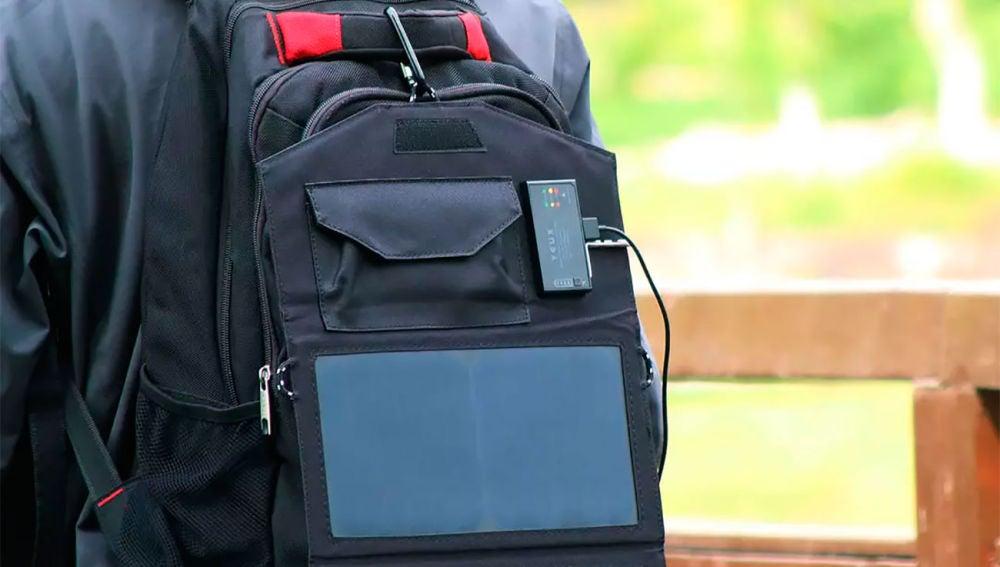 La batería se puede llevar a la espalda