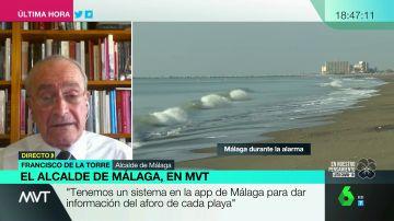 Aplicaciones de aforo y medidas de desinfección: el alcalde de Málaga explica cómo será el verano en sus playas