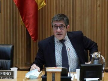 Nadia Calviño y Patxi López en la Comisión para la Reconstrucción Social y Económica del Congreso de los Diputados