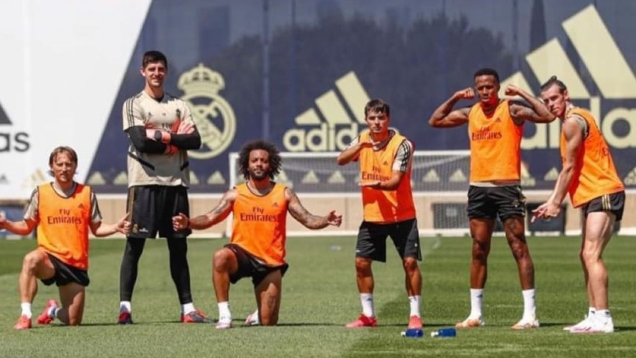 Modric, Courtois, Marcelo, Brahim, Militao y Bale