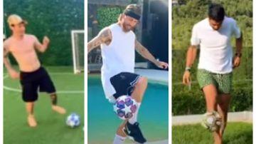 Leo Messi, Sergio Ramos y Luis Suárez