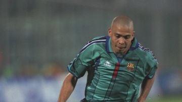 Ronaldo Nazario, en el Barcelona