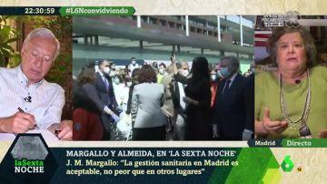 """Cristina Almeida: """"Abrir IFEMA fue una vergüenza, Aguirre presumía de haber hecho 14 hospitales"""""""