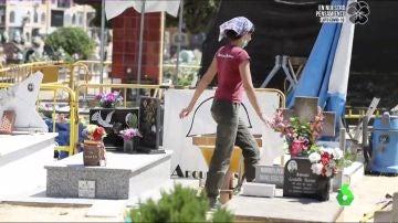 Labores de exhumación en el Cementerio de Paterna