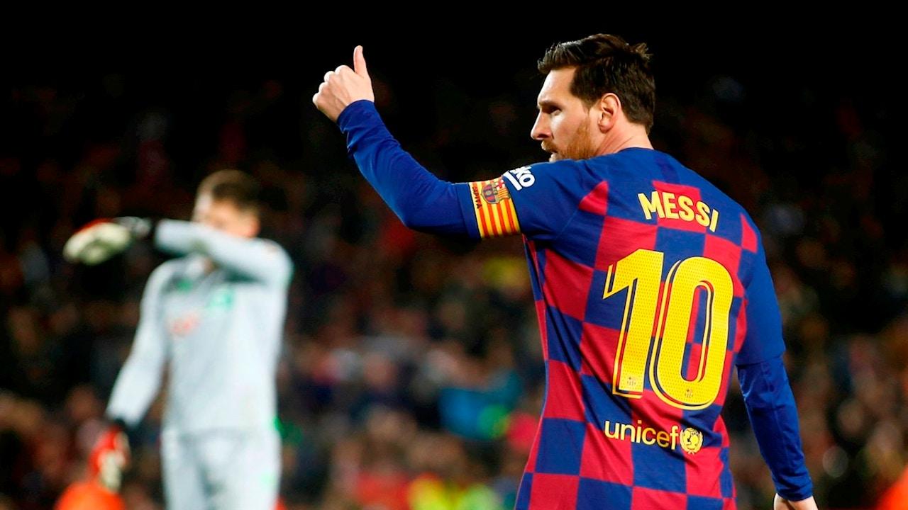 Lionel Messi, con el Barça
