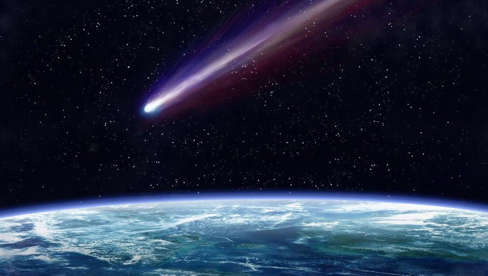 Asteroide aproximándose a la Tierra