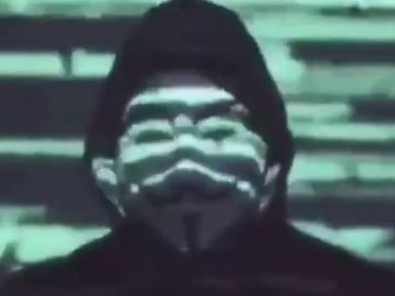 Captura de pantalla del comunicado de Anonymous.
