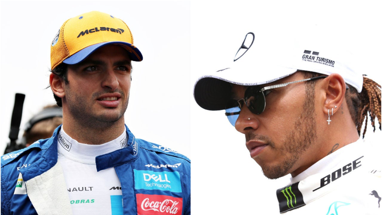 Carlos Sainz y Lewis Hamilton