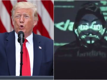 Anonymous amenaza a Donald Trump