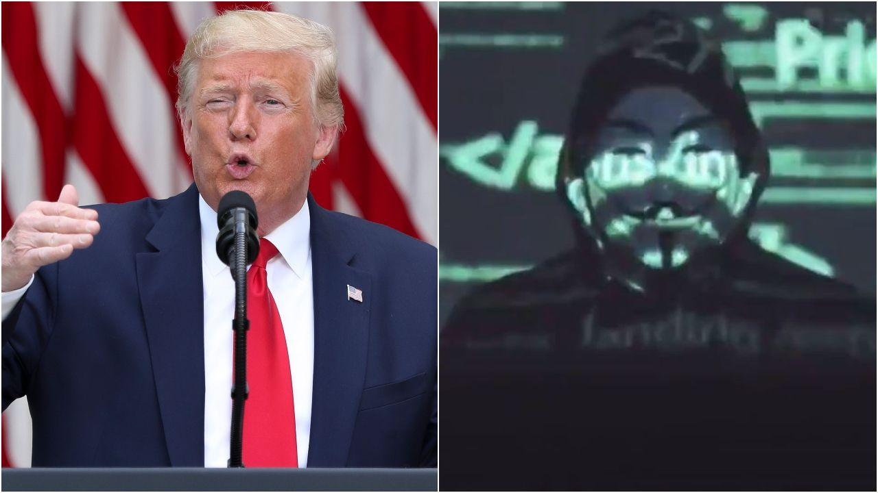 Anonymous amenaza a Donald Trump