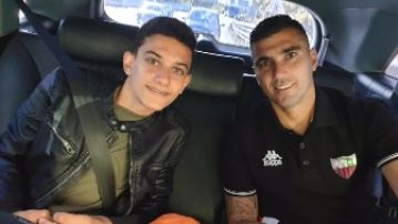 José Antonio Reyes junto a su hijo.
