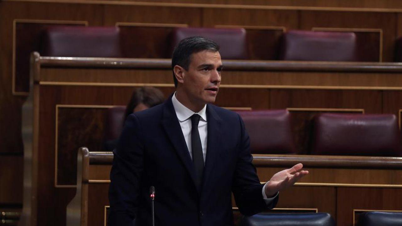 Pedro Sánchez en el Congreso de los Diputados donde se votará la prórroga del estado de alarma