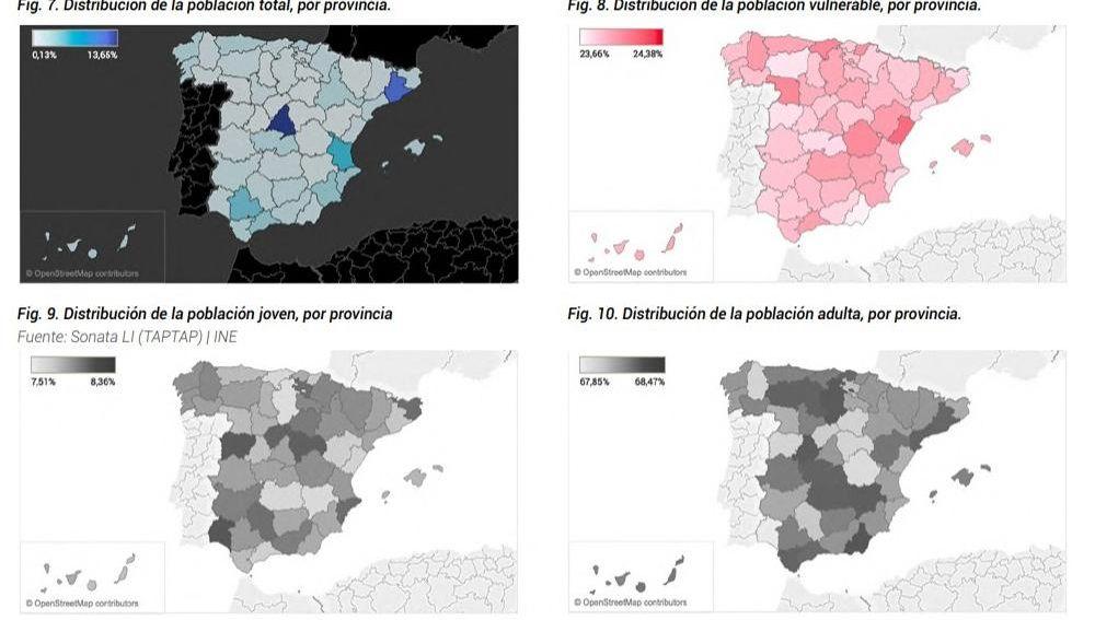 Un analisis geoespacial identifica las provincias mas vulnerables a la COVID 19