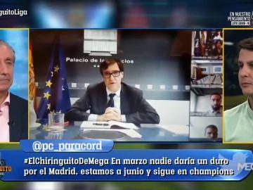 """Juanfe Sanz, en 'El Chiringuito': """"Sergio Ramos no ha querido prestarse a la reunión con el Gobierno"""""""