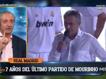 """Josep Pedrerol reveló una anécdota inédita con José Mourinho: """"Dormí solo una hora..."""""""