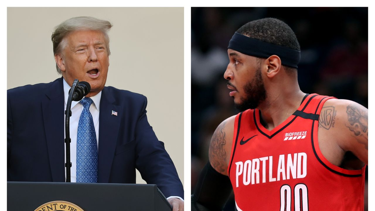 Donald Trump y Carmelo Anthony