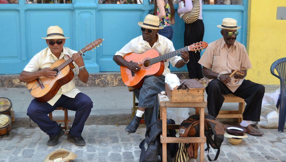 Músicos en La Habana