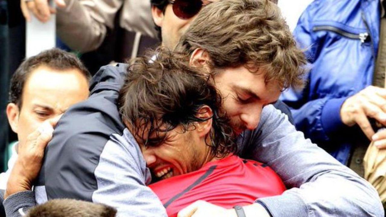 Pau Gasol y Rafa Nadal
