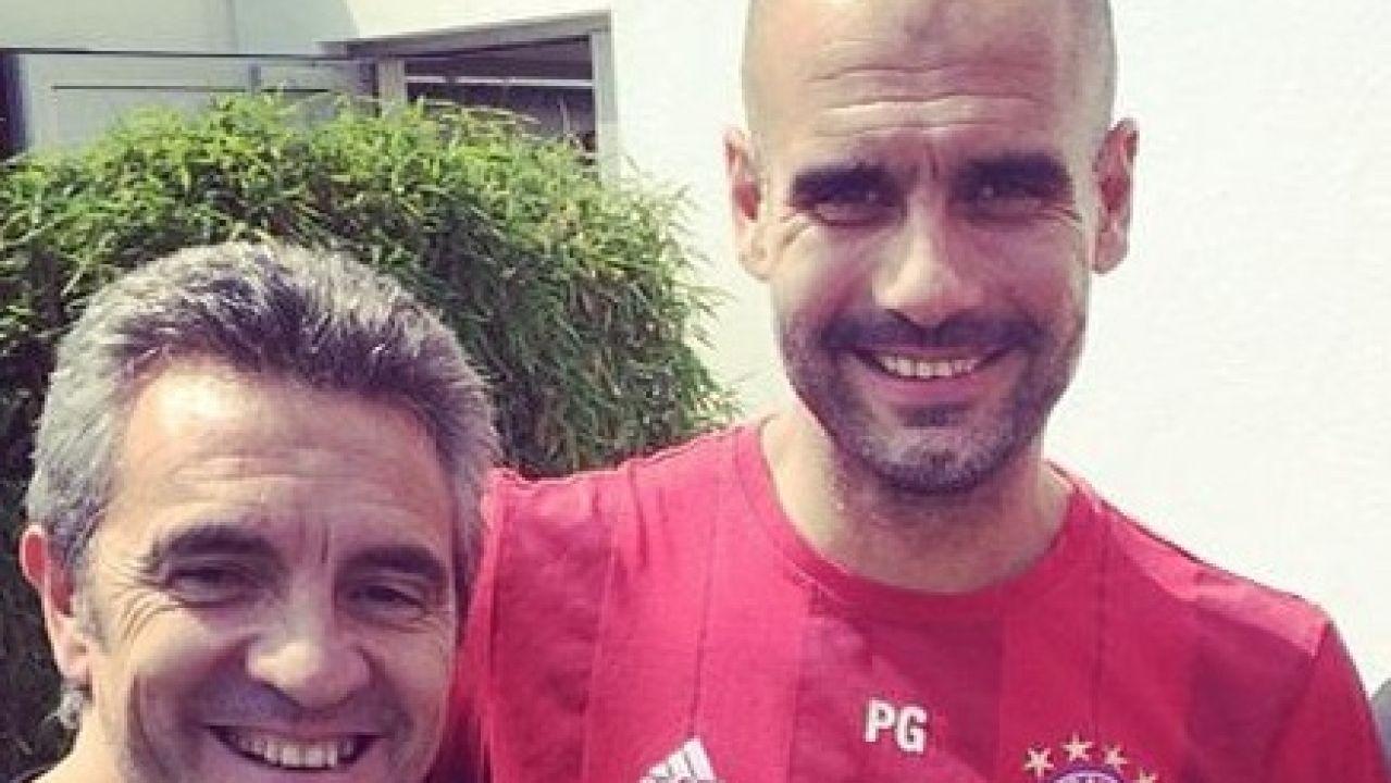 Juanma Lillo y Pep Guardiola