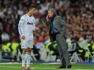 Cristiano Ronaldo y José Mourinho