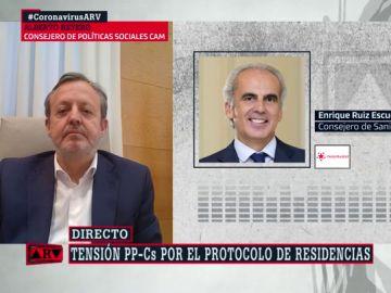 """El consejero de Políticas Sociales de Madrid responde al de Sanidad: """"Dice que no he ido a reuniones a las que no se me convocó nunca"""""""