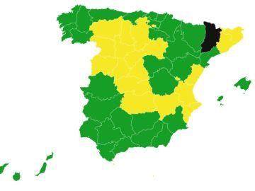 El mapa de la desescalada desde el 8 de junio