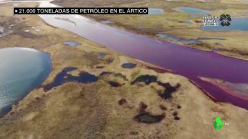 Más de 21.000 toneladas de petróleo se vierten en el Ártico: las imágenes de la mayor catástrofe ambiental de los últimos 30 años