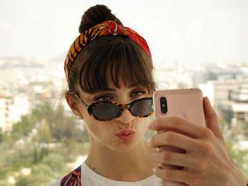 Haciendo un selfie