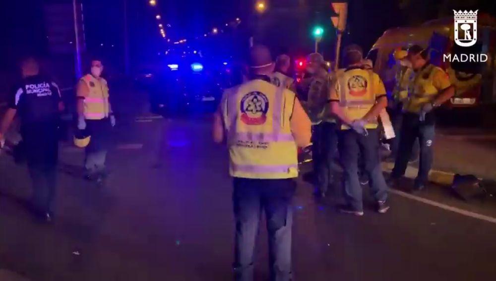 Las imágenes del accidente mortal del actor Jordi Mestre con la moto en Madrid