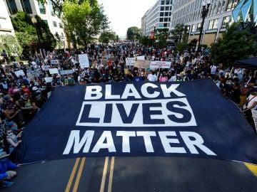 Imagen de la manifestación en memoria de George Floyd en Washington