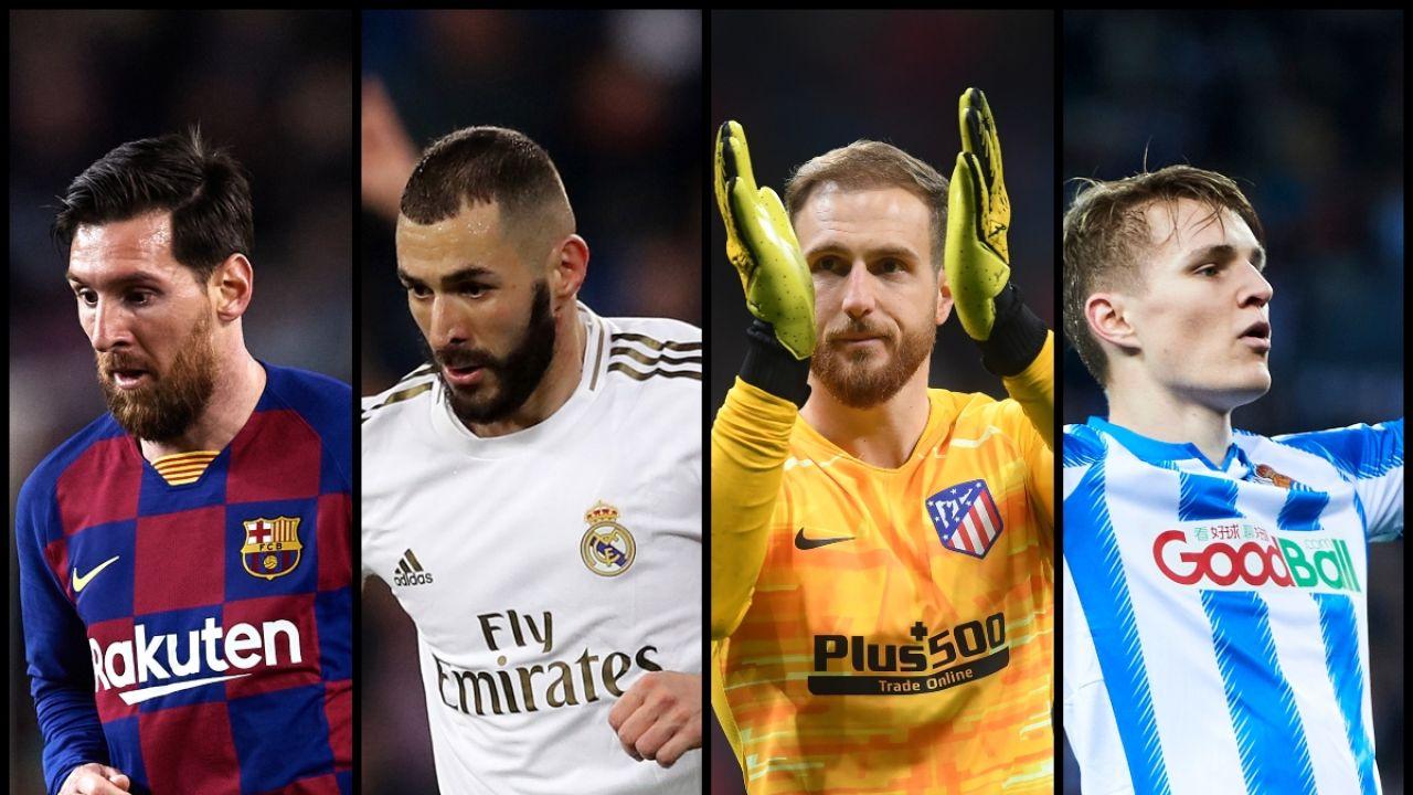 Messi, Benzema, Oblak y Odegaard