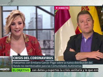 Cristina Pardo entrevista al presidente de Castilla-La Mancha, Emiliano García-Page