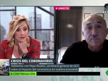 Pepe Álvarez (UGT) explica las claves del ERTE: ¿por qué hay gente que todavía no lo ha cobrado?, ¿cuándo terminará?