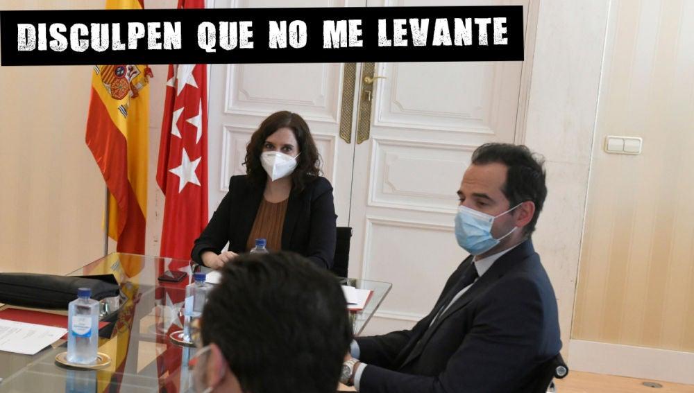 La presidenta de la Comunidad de Madrid, Isabel Díaz Ayuso , y el vicepresidente, Ignacio Aguado